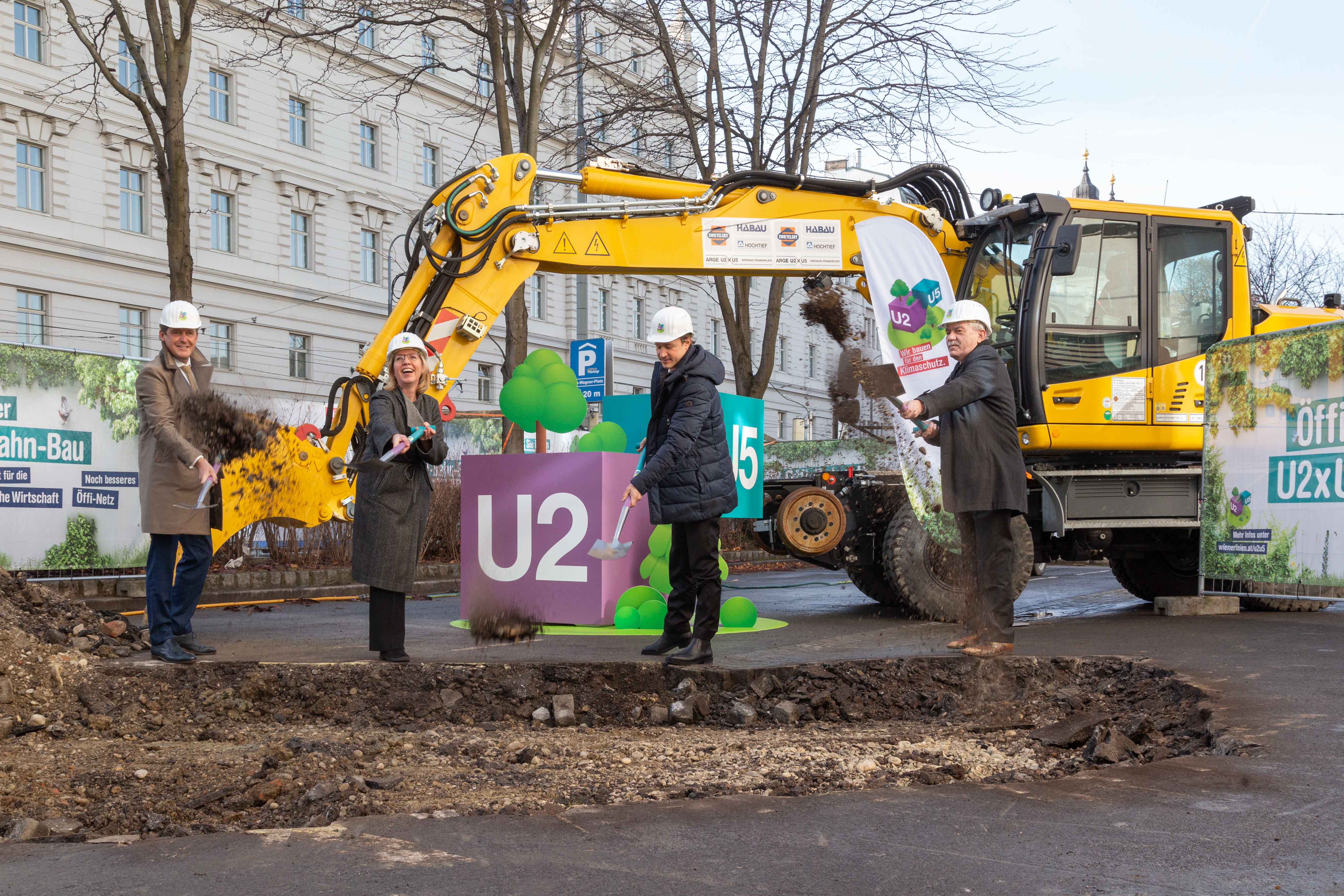 Spatenstich für den Ausbau der Wiener U-Bahn
