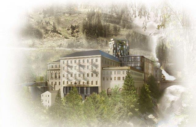 Hirmer präsentiert Baupläne für Gebäudeensemble in Bad Gastein
