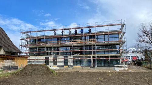 PRISMA stellt Rohbau für neue Wohnanlage in Rankweil fertig
