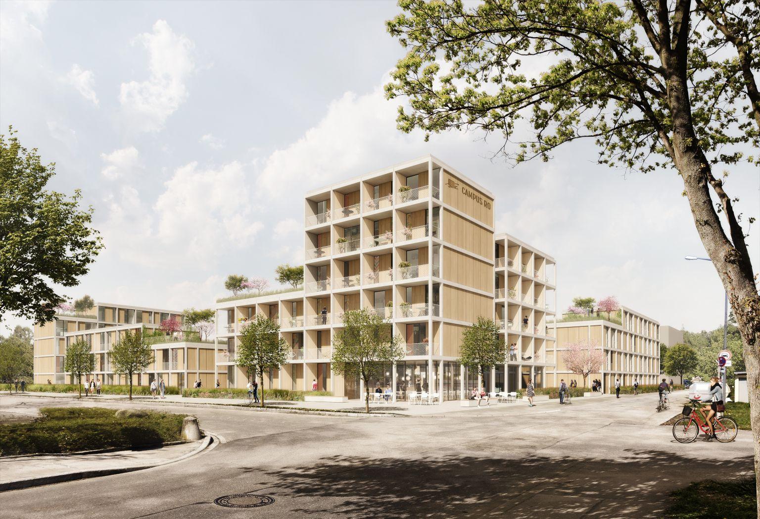Holzhybrid-Studenten-Quartier mit DGNB-Platin-Zertifikat