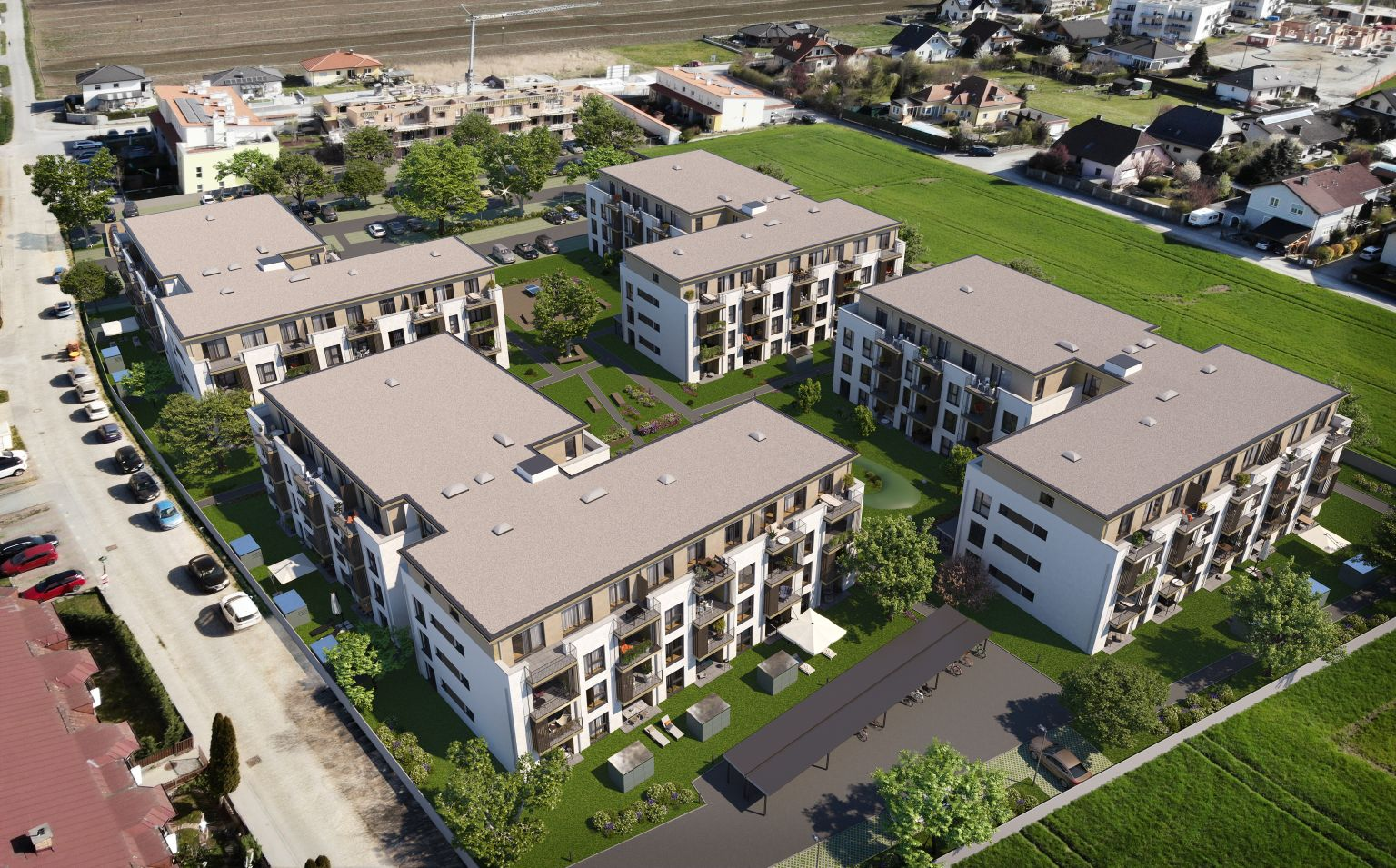 Dachgleiche für Wohnpark Ober-Grafendorf