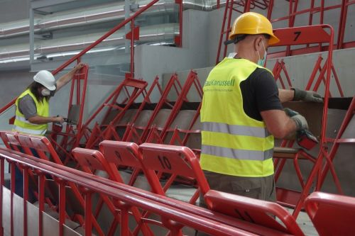 Rückbau des Ferry-Dusika-Stadions gestartet