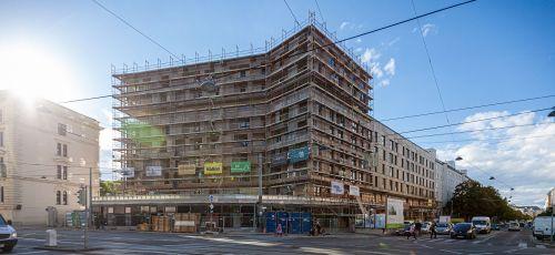 Dachlgeichenfeier für Wohnbauprojekt Landstraße Hauptstraße