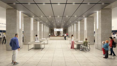 Besucherzentrum im Parlament nimmt Gestalt an
