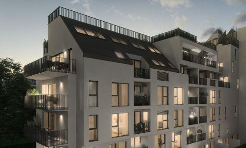 Dachgleiche für Vorsorgewohnungs-Projekt in der Pappenheimgasse 64