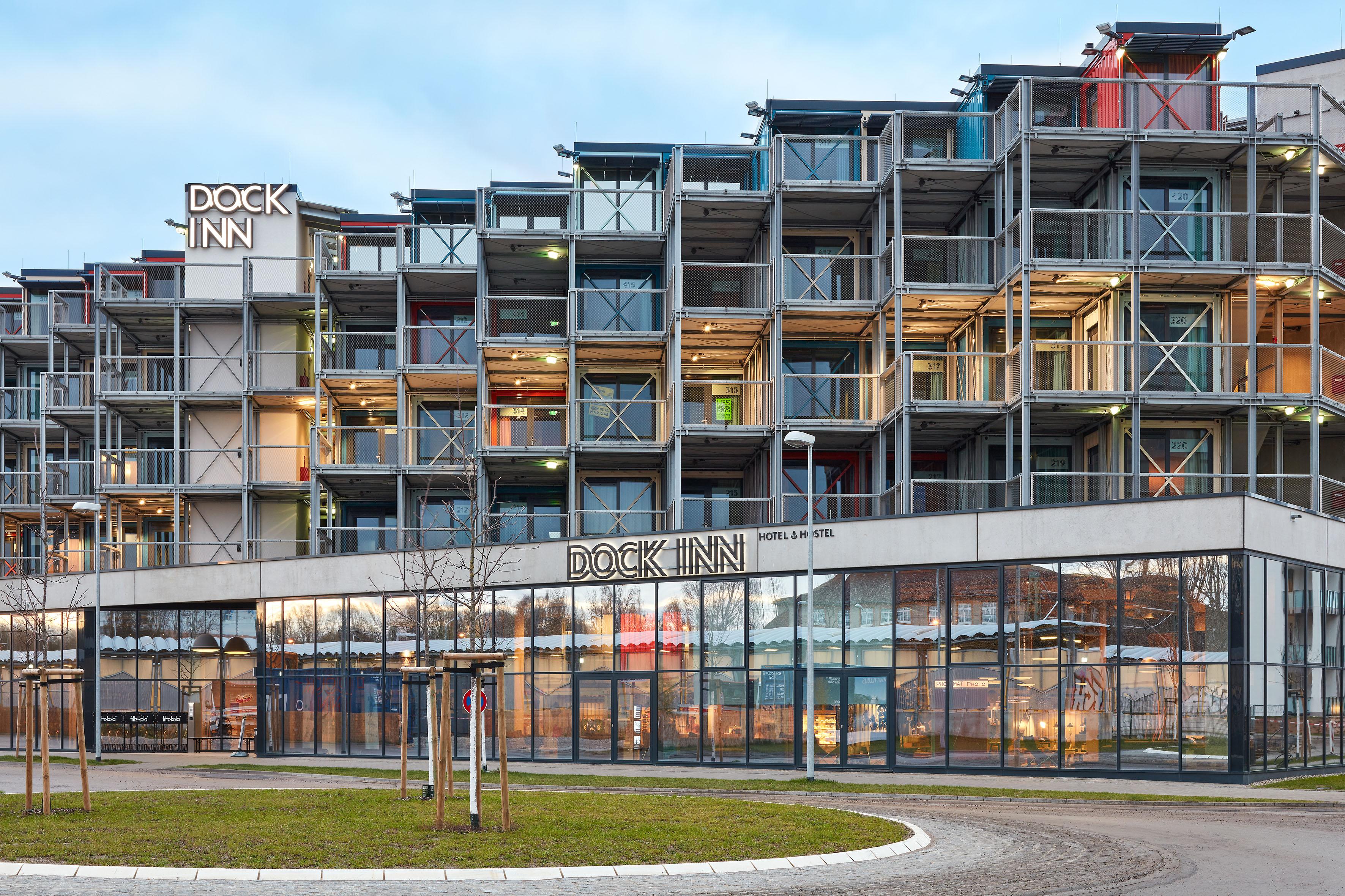 Container-Hostel in Warnemünde
