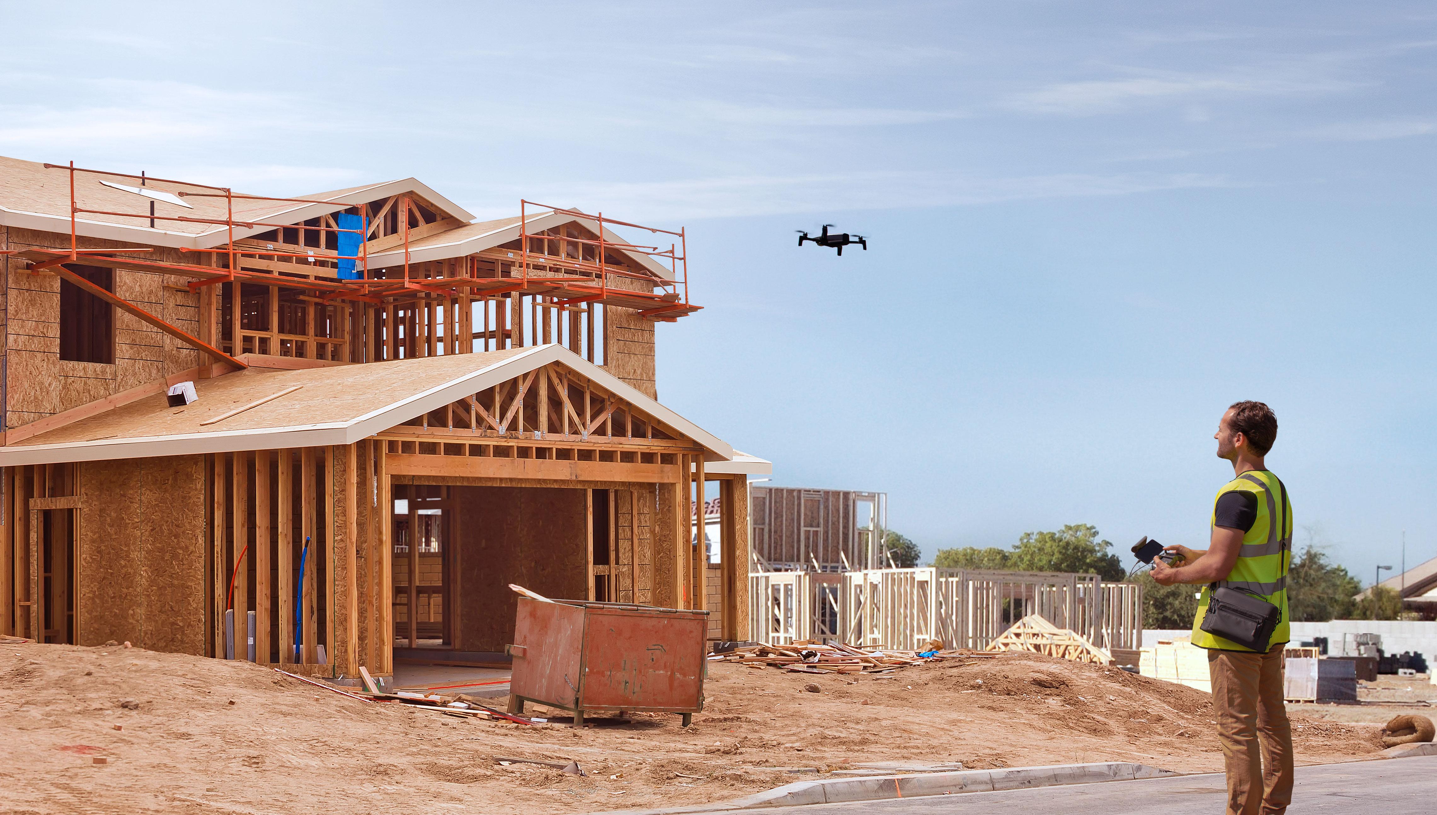 Detaillierte Gebäudeinspektion dank ANAFI Drohne